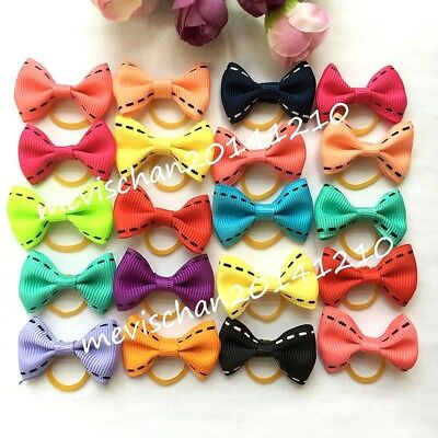 Hot Pet Hair Bows Rubber Bands/Clips Cute Bowknot Dog puppy Grooming Product