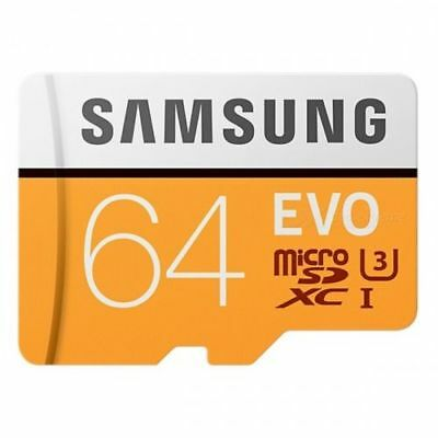 Samsung Evo 64GB micro SD SDXC Class 10 memory card 100MB/S with Free Adapter