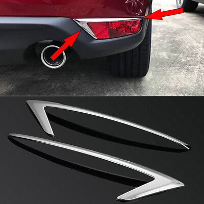 For Mazda CX-5 2017 2PC ABS Plating Car Rear Fog Light Edge Cover Trim Frame