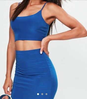 Missguided Skirt And Crop Top Co Ord 10