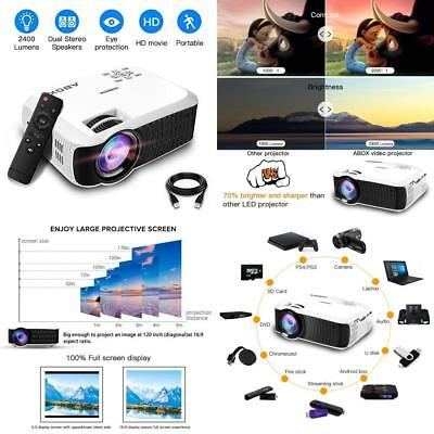 Home Theater Projector Support 1080p 2400 Lumens Portable LCD Video Projector US