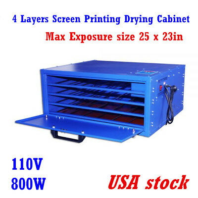 US-4 Layers Max Exposure 25x23in Warming Machine Screen Printing Drying Cabinet