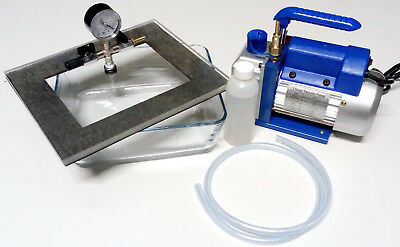 Vacuum Chamber & Pump - 3 Litre - Degassing, Casting, Extraction, 3L Glass