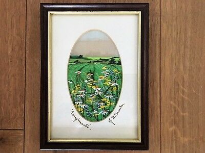 Margaret Swales embroidered picture entitled 'Forgetmenots'