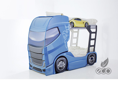 Children's Car Bunk Bed Truck 245x93 cm double Mebelev 3 colors with mattress