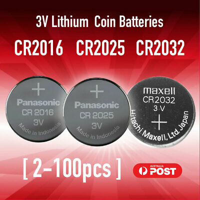CR2016 CR2025 CR2032 Button Coin Lithium Battery 3V Batteries Made in Japan