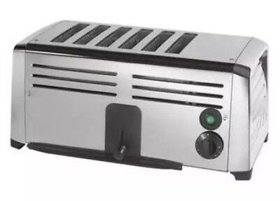 Burco Stainless Steel Commercial 6 Slice Electric Toaster - TSSL16