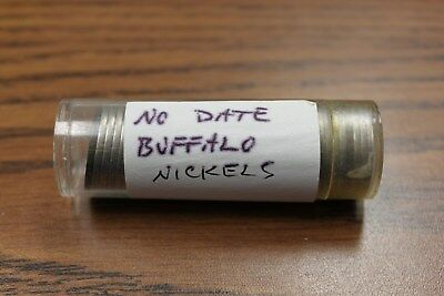 Roll of NO DATE Buffalo Nickels Circulated