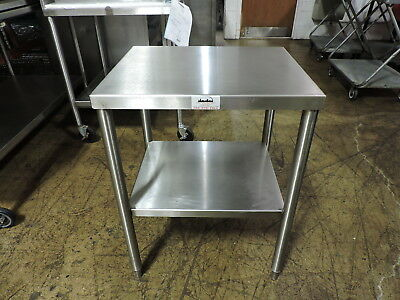 "Commercial Stainless Steel Work Table with Undershelf - 24"" x 20"""