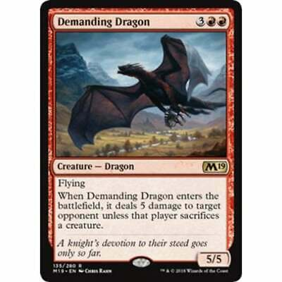 MTG Core Set 2019 * Demanding Dragon