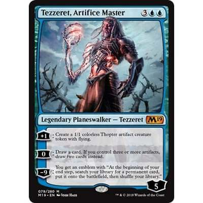 MTG Core Set 2019 * Tezzeret, Artifice Master