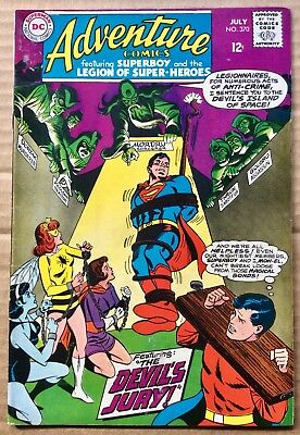 ADVENTURE COMICS #370 (1968) DC Silver Age Superboy, Legion of Super-Heroes F/VF