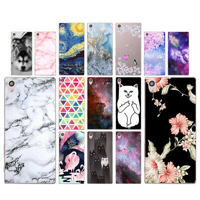 "Marble 5.2"" Soft TPU Silicone Case For Sony Xperia Z5 Phone Back Cover Skins Zoo"
