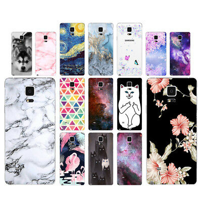 Marble Soft TPU Silicone Case For Samsung Galaxy Note 4 Phone Back Cover Skin