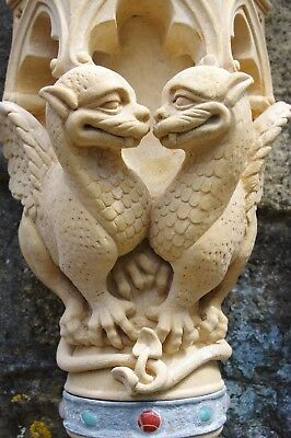 The TUDOR GATE Golden Huddled Doves in Farran Stone Gothic