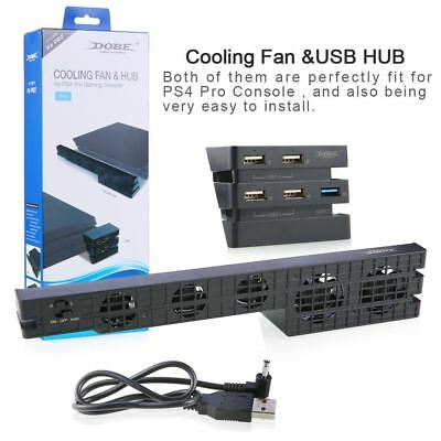 Mulitfunction 2 in 1 Cooler Fan with USB External 5 Fan Super Turbo +USB HUB 5 U