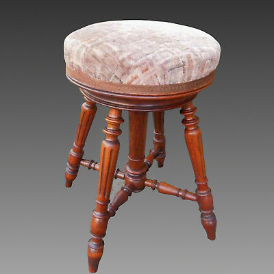 Antique Napoleon III Chair piano Stool in Walnut - 19th century