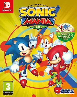 Sonic Mania Plus Inc Artbook and Sleeve (Nintendo Switch) Brand New & Sealed UK