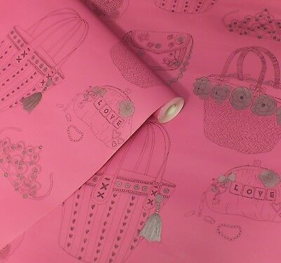 Childrens, Kids, Girls, Pink, Black & Silver, Handbags & Tiaras Wallpaper