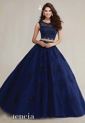 3e4a1094d0 Lace Beaded Two Piece Quinceanera Dresses Ball Gown Prom Dresses 15 Years  Party