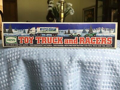1997 Hess Toy Truck And Racers Nib Brand New Rare