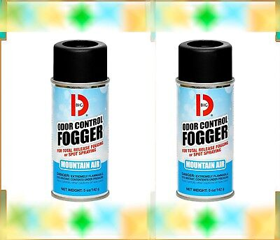 2 Cans - Big D Industries Odor Control Fogger Spray 344 MOUNTAIN AIR Deodorizer