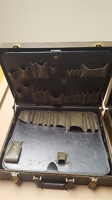 VINTAGE BELL SYSTEM TOOL BOX CASE TELEPHONE REPAIR KIT POCKETS Free Shipping!!
