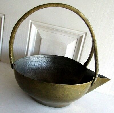 Antique Czarist Russian Era Huge Heavy Brass Pouring Container To Fill Samovars