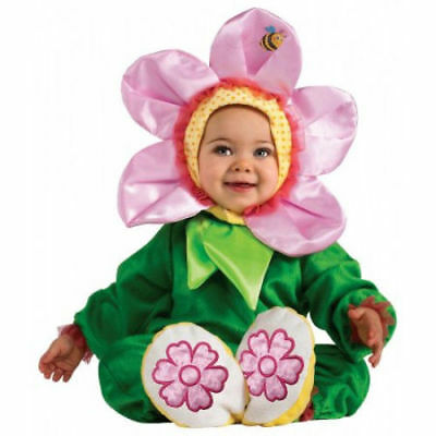 Pink Pansy Flower Infant Costume Size 6-12 Months Rubies NEW