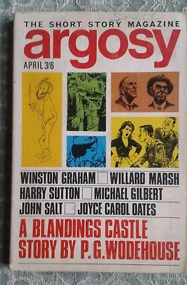 Argosy Magazine April 1967 Inc.'First Aid for Freddie' by P.G. Wodehouse
