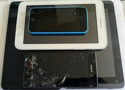 For Parts / Repair Tablet and Phone Lot - Apple, Sony, Samsung, Acer, Ellipsis