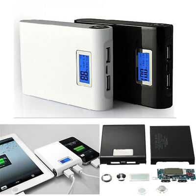 Power Bank Box Case Dual USB Charger Charging 4x18650 Battery Kits For Phone