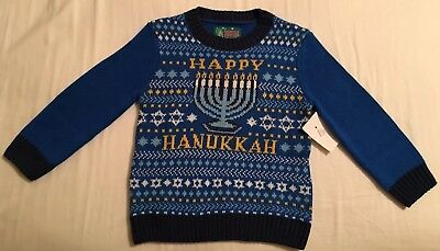 Ugly Christmas Sweater Co. Happy Hanukkah Sweater with Menorah! 4T NWT ADORABLE