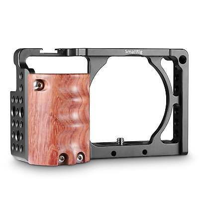 SmallRig A6300 Cage with Wooden Hand grip Handle for Sony A6000/A6300 2082