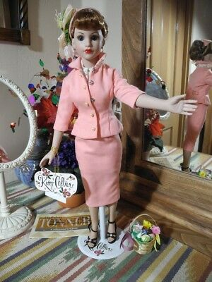 "TONNER Kitty Collier 18"" Doll Luncheon Suit, Halter Top, Hand Tag, Hat, Shoes"