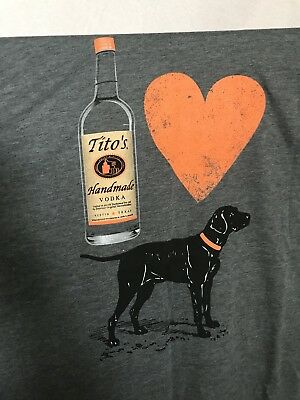NEW Tito's Vodka for Dog People T-shirt size 2XL / XXL - Polyester / Cotton