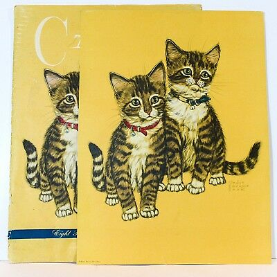 Gladys Emerson Cook Cats and Kittens 8 Prints and Portfolio Penn Prints New York