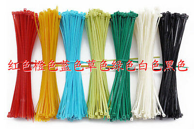 3x150mm ASSORTED Colours Nylon Cable Ties Loop Tie Wires Self-Locking Strap