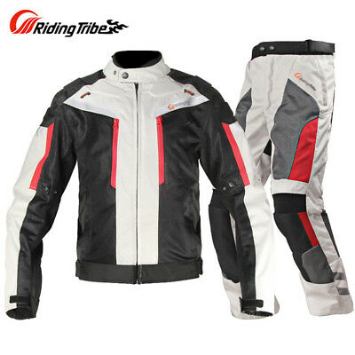 Riding Tribe Windproof Motorcycle Jacket Pants Suit Moto Protective Gears Armors