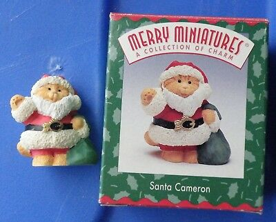 Santa Cameron Hallmark Merry Miniature 1997 figurine kitty