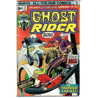 Ghost Rider 13 Marvel Comics August 1975 Volume 1 bronze age comic book Trapster