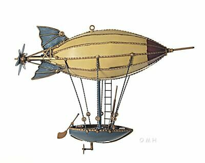 "Steampunk 14""  Airship Blimp With Hanging Rowboat Assembled"