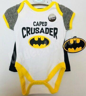 PRIMARK BABY BOYS BATMAN CAPED CRUSADER VEST WITH CAPE - Brand New With Tags