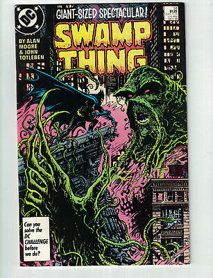 Swamp Thing #53 FN/VF Batman Appearance 1986 Copper Age By Alan Moore