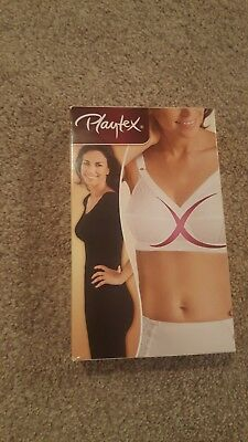 PLAYTEX PO152 CLASSIC SUPPORT BRA UNWIRED WHITE SIZE 40E NEW IN BOX RRP £29.00