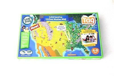 LEAPFROG TAG INTERACTIVE World Map 2-Sided Learning Path Leap Frog ...