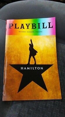 HAMILTON-(LIN MANUEL) (Broadway) PLAYBILL -JUNE 2018..LOW SHIPPING.PRIDE EDITION