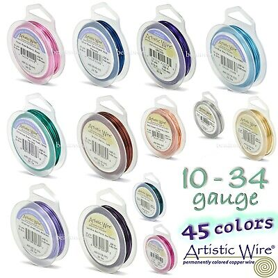 Artistic Wire Silver Plated Tarnish Resistant Round Craft Wire ~ LARGE SPOOLS