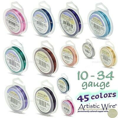 Artistic Wire Tarnish Resistant Silver Plated Copper Craft Wire (46 COLORS)