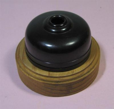 Vintage Bakelite LIGHT SHADE Ceiling Mount With Wooden Base   SirH70